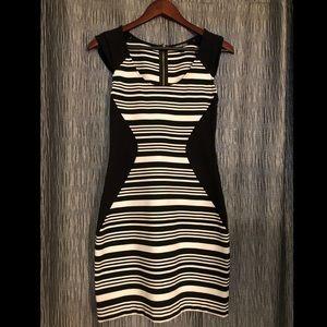 Black and white, striped mini dress!